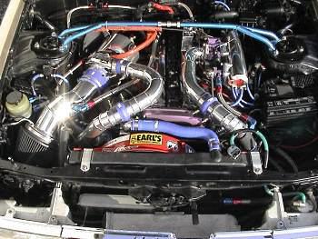 1G-GTE engine inside the GX71