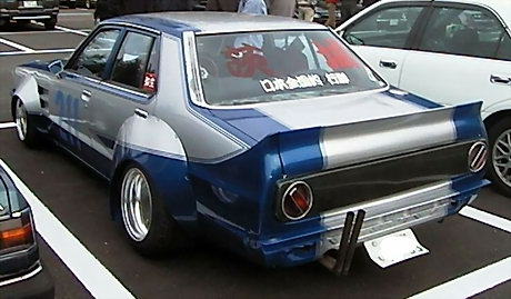 A small stump on this Skyline Japan to put a large exhaust on!