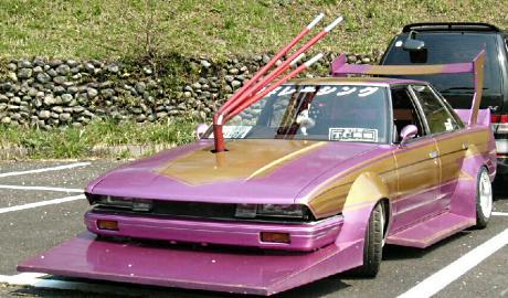 Quad piped turbo on Toyota Mark II GX71