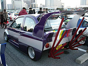 Two handed Bosozoku kei car