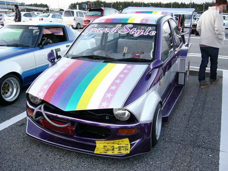Bosozoku styled kei car: Mitsubishi Minica