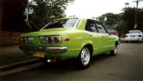 Factory stock Mazda Savanna RX3 4 door saloon