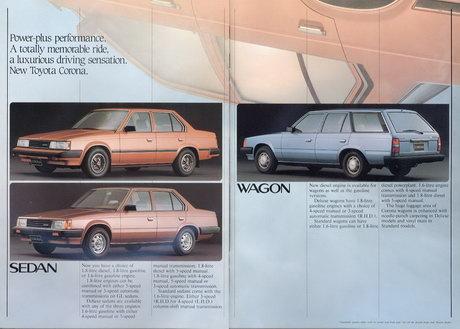 Factory stock Corona sedan and wagon