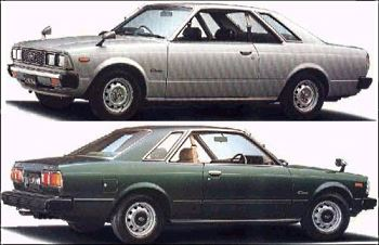 Factory stock photos of the Toyota Corona coupe
