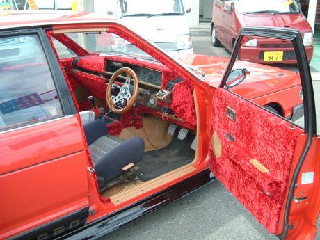 Nissan Bluebird 910 with pimp interior