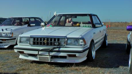 White Toyota Crown MS130