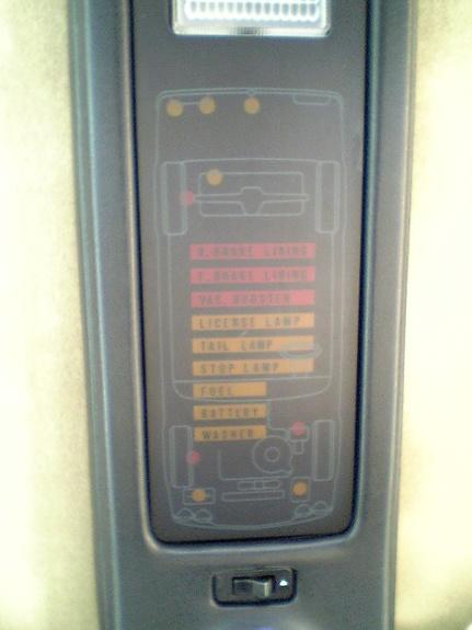 Mazda Cosmo warning system