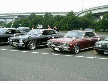 Factory stock Nissan Cedric C330 and Nissan Gloria C330