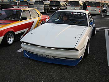 Lengthened hood and overfenders on this Soarer