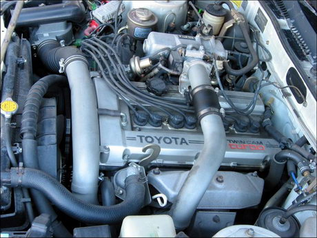 The mighty 3T-GTE twin cam 16 turbo engine