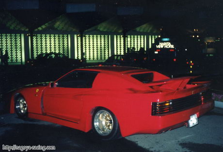 Unknown bosozoku styled car. Looks like a 80s Koenig Testarossa