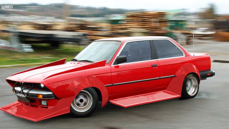 Bosozoku style artwork: Gunwoo's BMW E30 zokusha