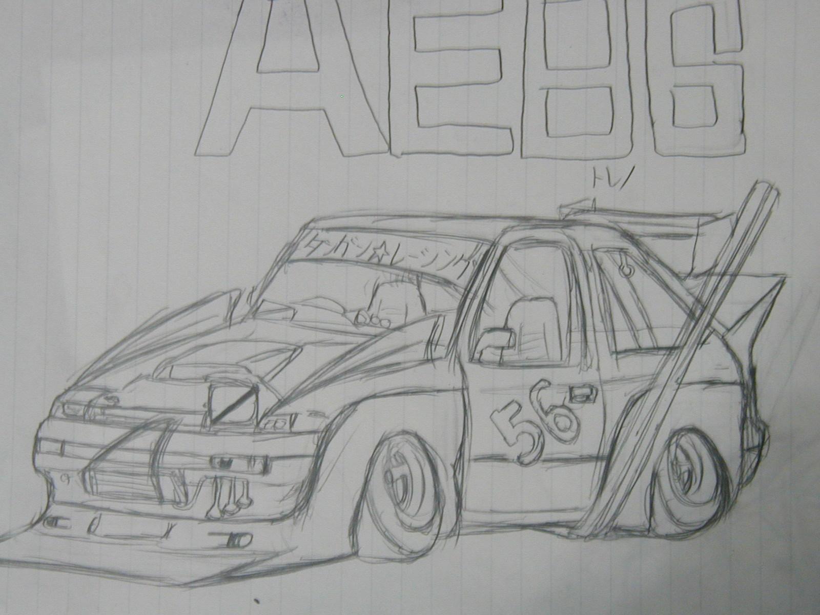 Artwork: Sprinter Trueno AE86 zokusha