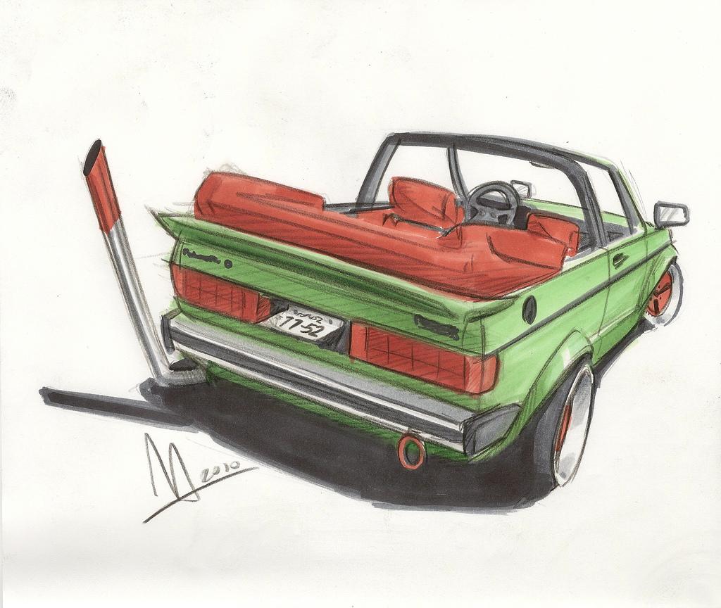 VW Rabbit Convertible by Tyler Linner