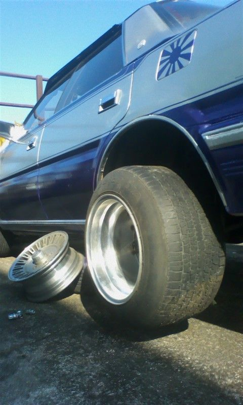 Deep dish 12J wide SSR Mk. 1 on a Toyota Crown MS125