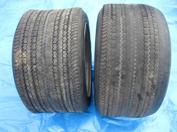 Deep dish 14 inch 11J steel rims with Dunlop CR88