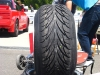 Stretched tires at HistoriX Japan