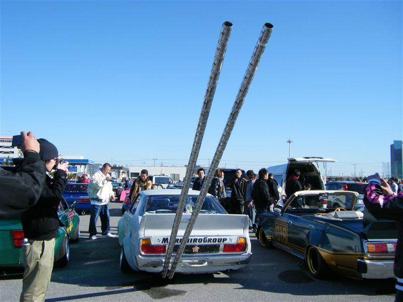 Nissan Skyline C210 beercan exhaust