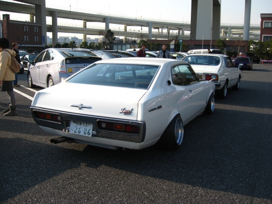 Hart Racing rims on a Nissan Laurel C130