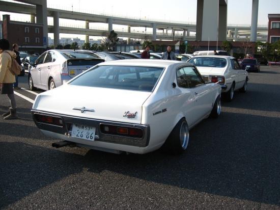 Hart Racing rims on a Nissan Laurel C130