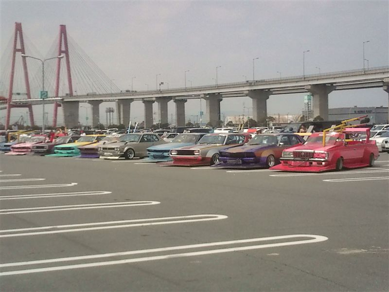 Nagoya Exciting Car Showdown 2010 parkinglot