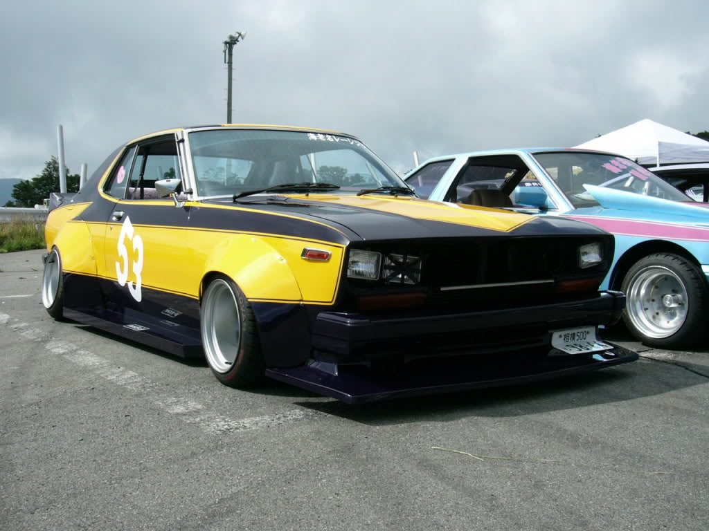 Nissan Laurel C130 with swapped headlights