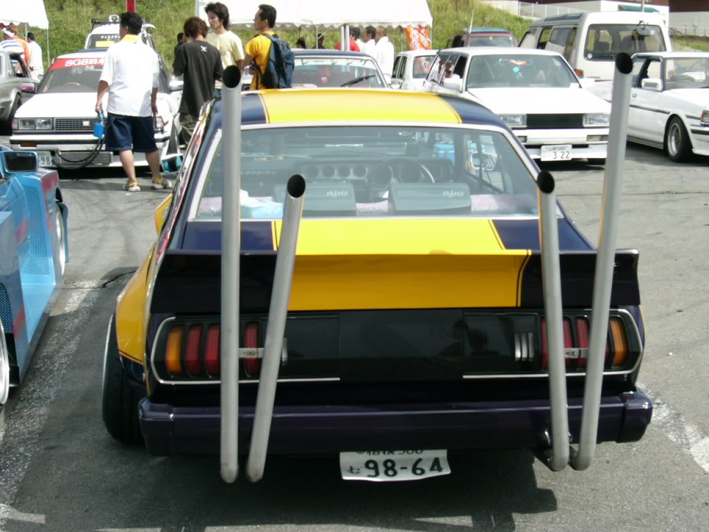 Nissan Laurel C130 Double V shaped exhaust