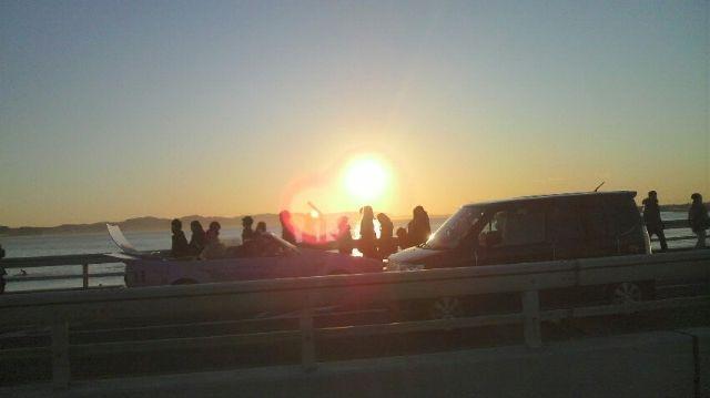 Sunrise meeting in Enoshima Yacht Harbor