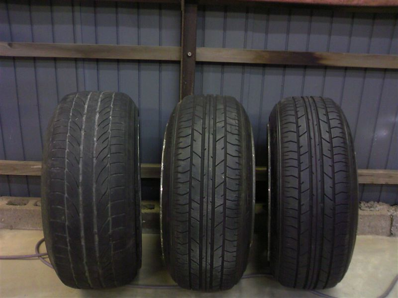 Compare several tiresizes on these RS Watanabe 16 inch 8J and 8.5J