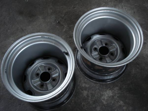 Deep dish 14 inch 12J steel rims