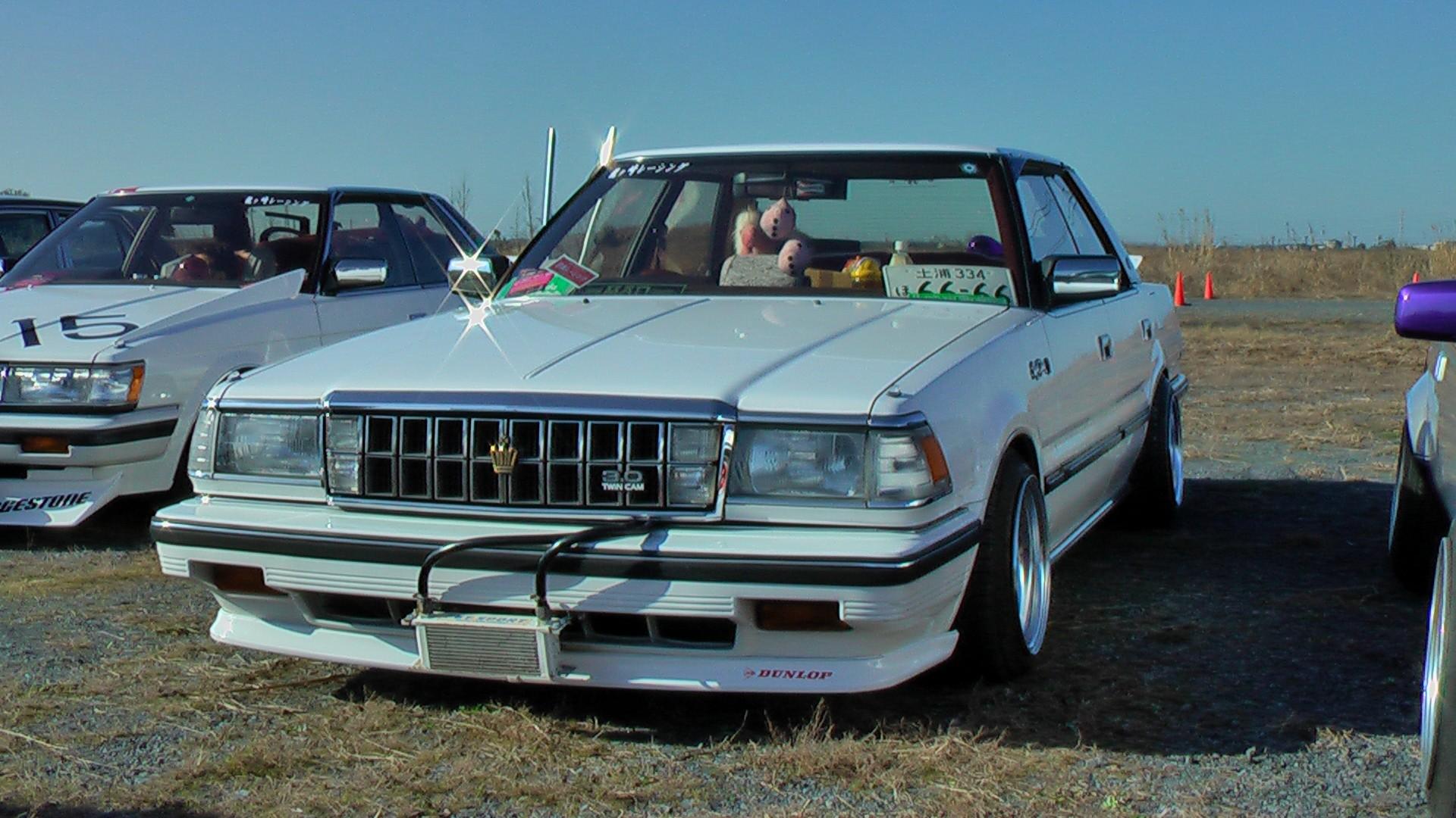 White Toyota Crown MS130