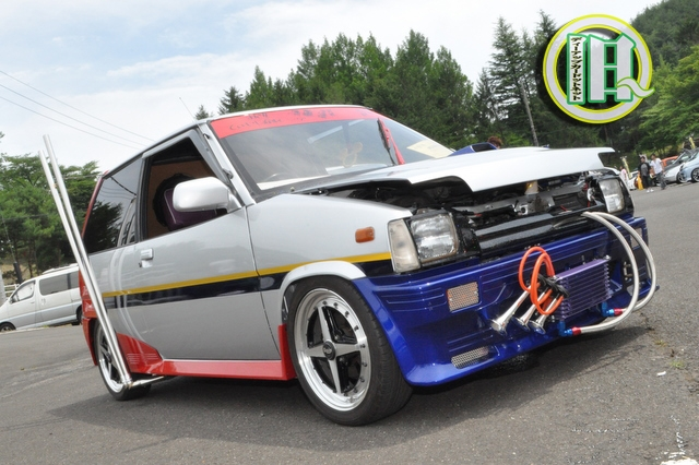 Mitsubishi Minica H14V side exhaust