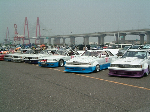 A bunch of Toyota Soarers