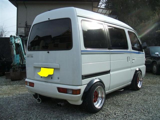 Suzuki Every Wagon Joypop on deep dished SSR Mk II