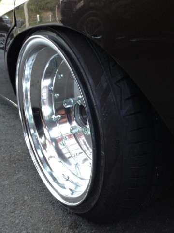 Stretched tires over a SSR Mk I rim
